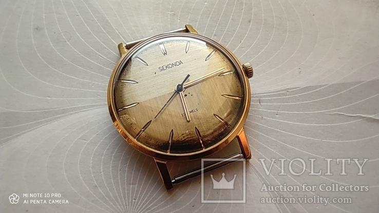 Часы Sekonda (Луч).позолота Au10, фото №3