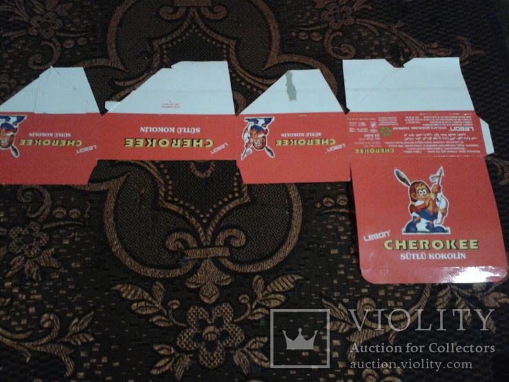 """Коробка від батончиків """"Cherokee""""., фото №3"""