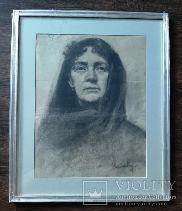 Портрет женщины. Подпись.