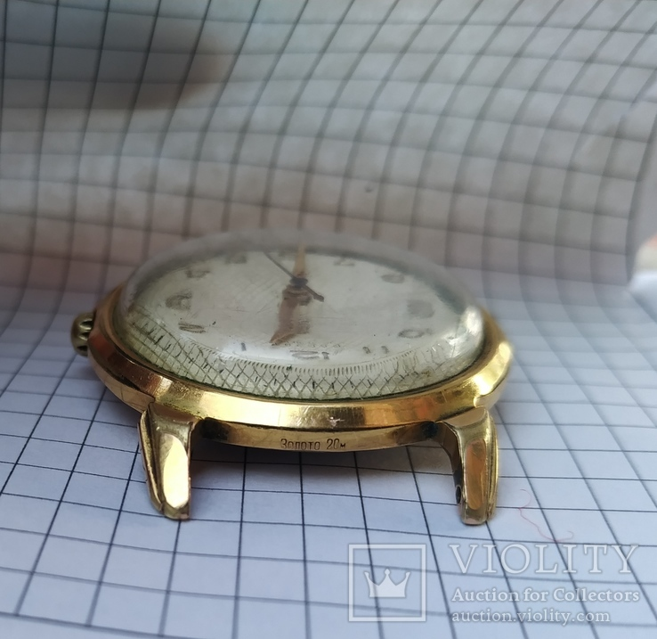 """Часы """"Poljot"""", 16 камней, золото 20м, фото №5"""