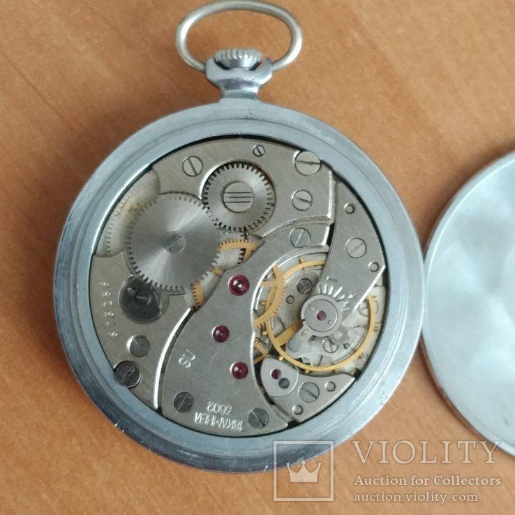Карманные часы Молния. Тонкие. Рабочие., фото №4