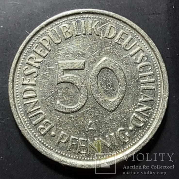 ФРГ. 50 пфеннигов 1990г. A (монетный двор Берлина), фото №2