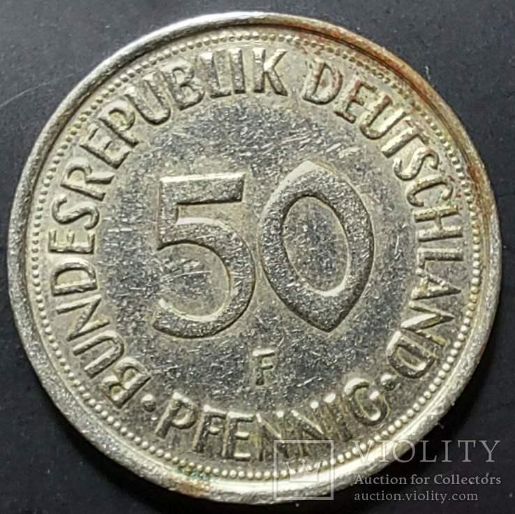 ФРГ. 50 пфеннигов 1992г. F (монетный двор Штутгарта), фото №2