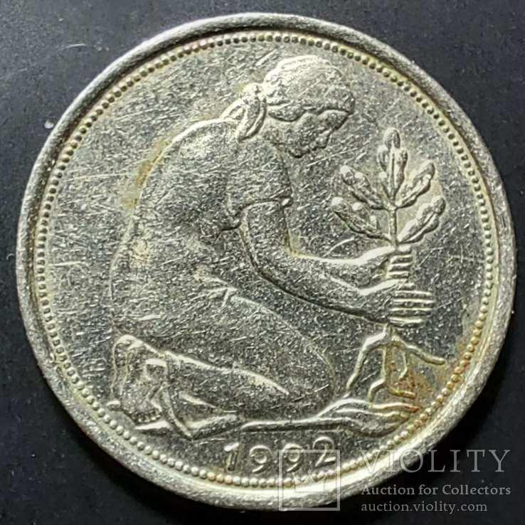 ФРГ. 50 пфеннигов 1992г. F (монетный двор Штутгарта), фото №3