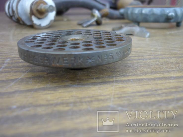 """Мясорубка  REMSCHEID """"Alexander Werk"""" (клейма на ножах), фото №11"""
