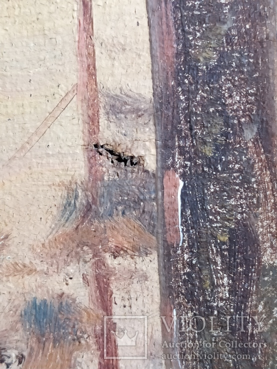 "Картина ""Закат в зимнем лесу"" Ю.Ю.Клевер(1850-1924гг), фото №6"