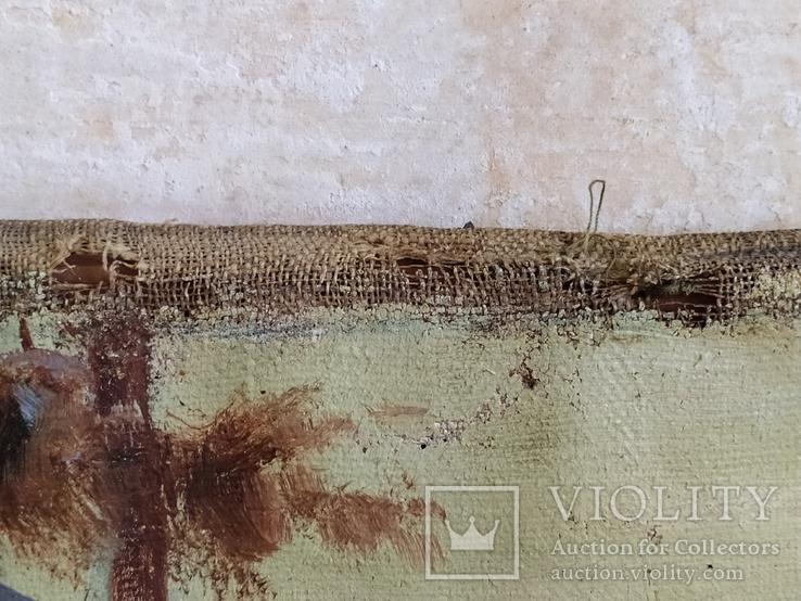 "Картина ""Закат в зимнем лесу"" Ю.Ю.Клевер(1850-1924гг), фото №7"