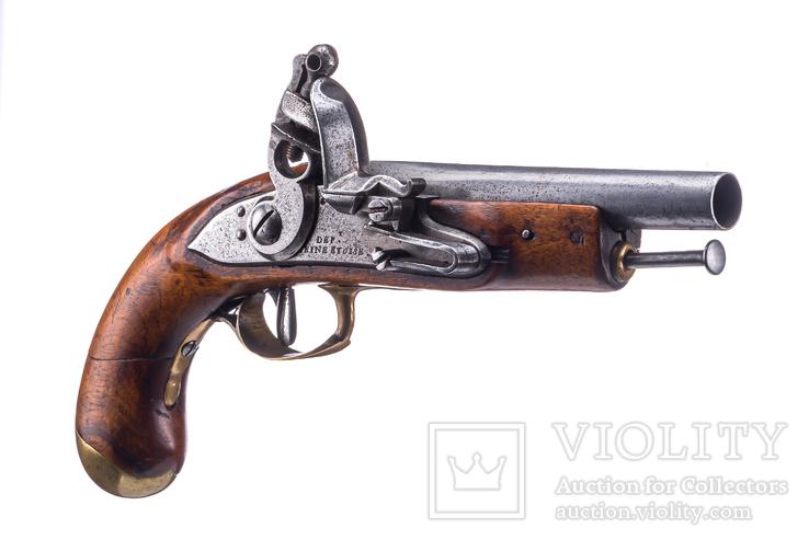 Пистоль кремниевый военный Франция 1790 г 28 см