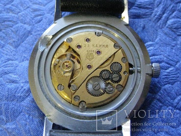 Часы Полет 23 камня Масонские символы рабочие на ремне р, фото №10