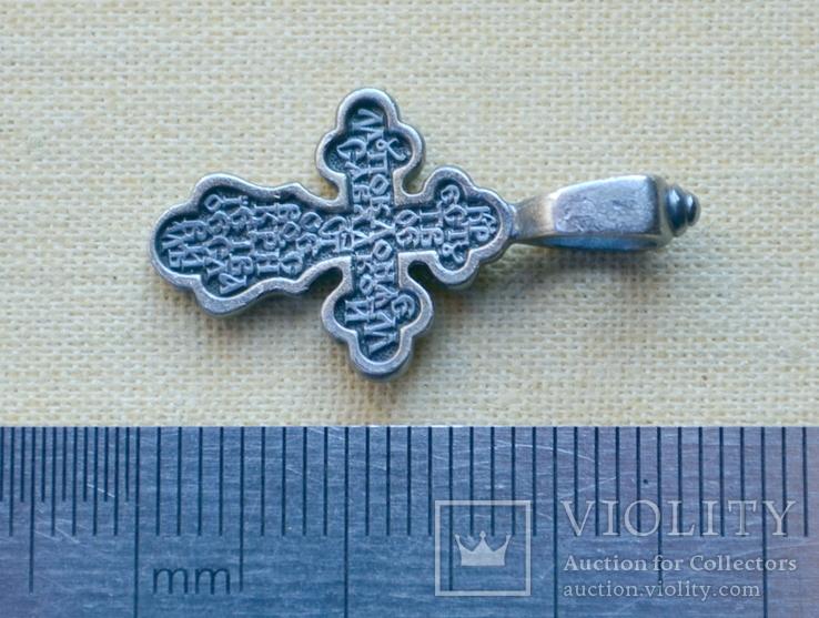Серебряный крестик (2) ( из воды, проба 925, вес 1,79 г.), фото №4