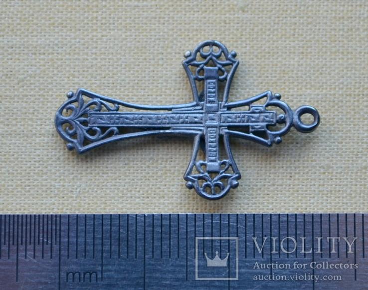 Серебряный крестик (3) ( из воды, проба 925, вес 1,73 г.), фото №4