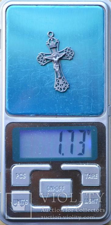 Серебряный крестик (3) ( из воды, проба 925, вес 1,73 г.), фото №5