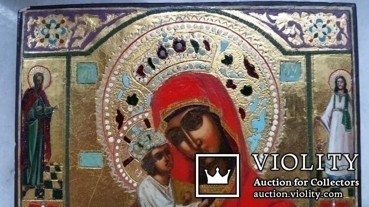 Ікона Почаївська Богоматір, 22,2х17,3х2,2, фото №3