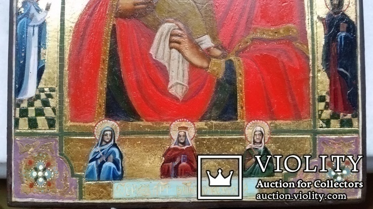 Ікона Почаївська Богоматір, 22,2х17,3х2,2, фото №5