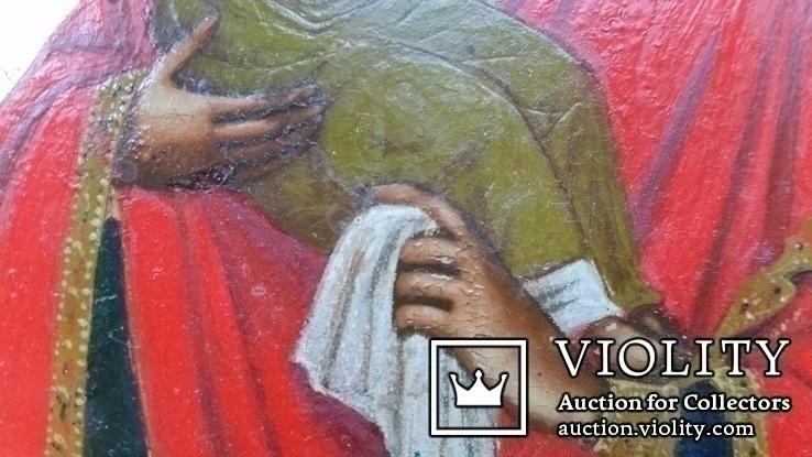 Ікона Почаївська Богоматір, 22,2х17,3х2,2, фото №6