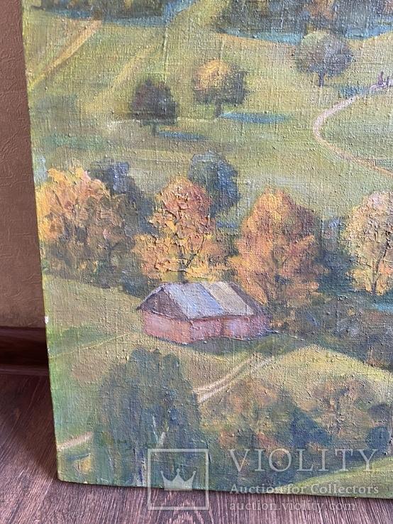 Картина Пейзаж Свалява Закарпаття В. Рудько 1980 год  92х63 см, фото №5
