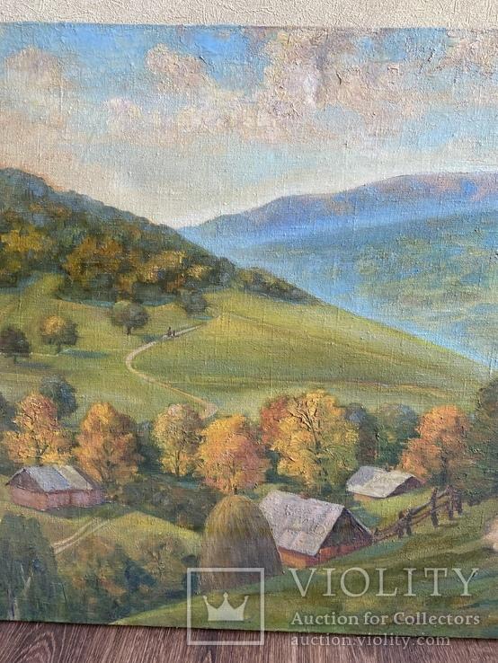 Картина Пейзаж Свалява Закарпаття В. Рудько 1980 год  92х63 см, фото №7
