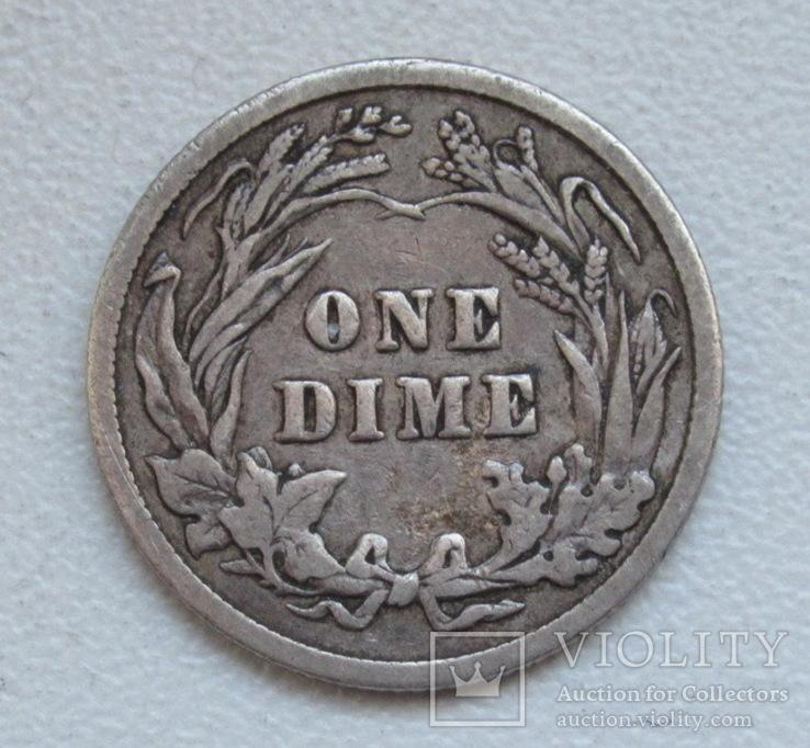 1 дайм / 10 центов 1905 г. США, серебро, фото №10