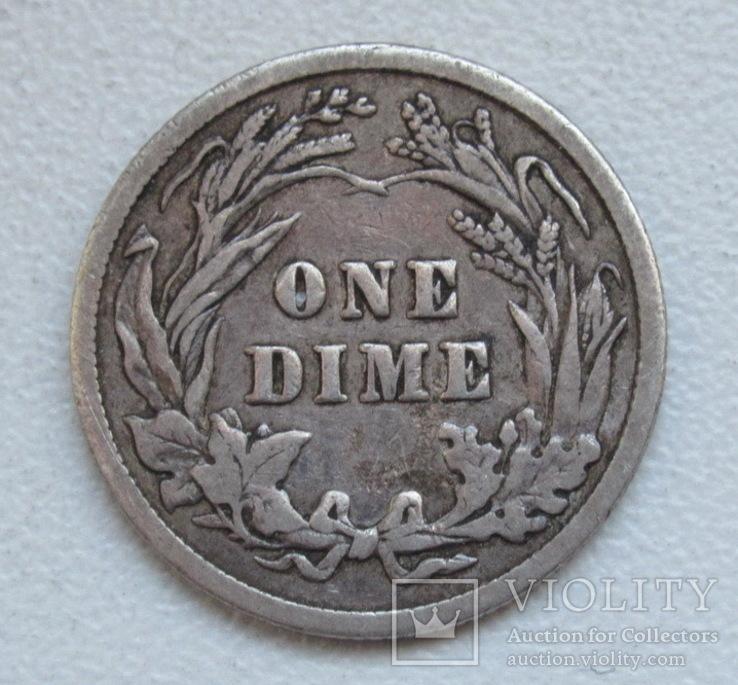1 дайм / 10 центов 1905 г. США, серебро, фото №11