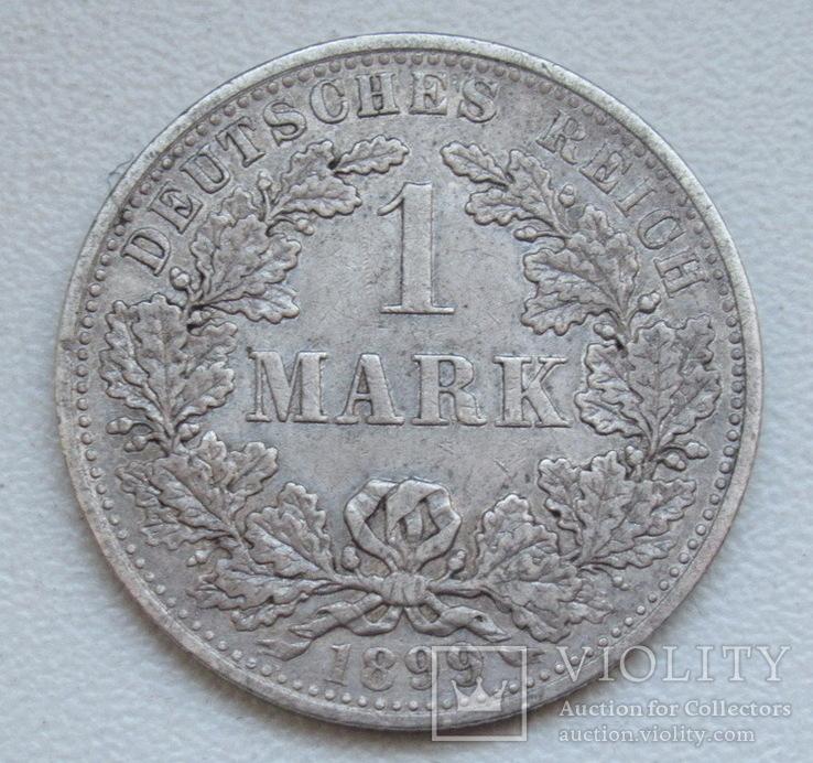 1 марка 1899 г. (А) Германия, серебро, фото №3