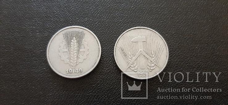 10 пфеннигов 1949,1952 годов.ГДР., фото №3