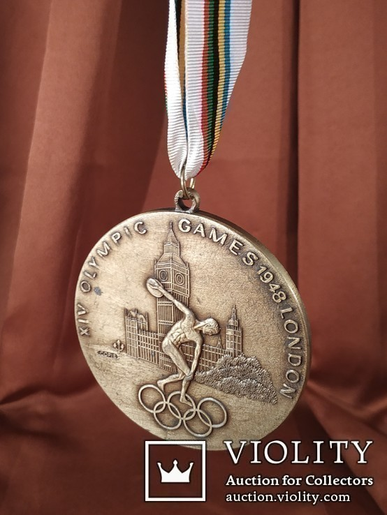 Олимпиада в Лондоне 1948 год/Медаль/Копия, фото №3