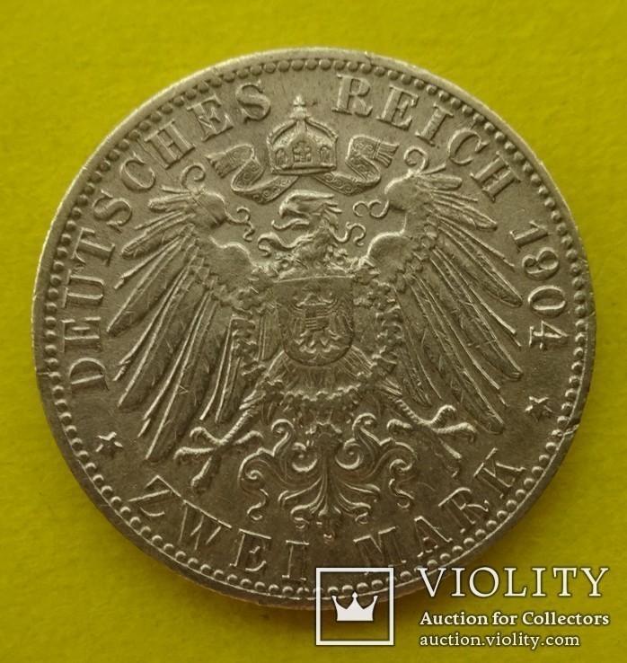 2 марки. Бремен. 1904 год., фото №3