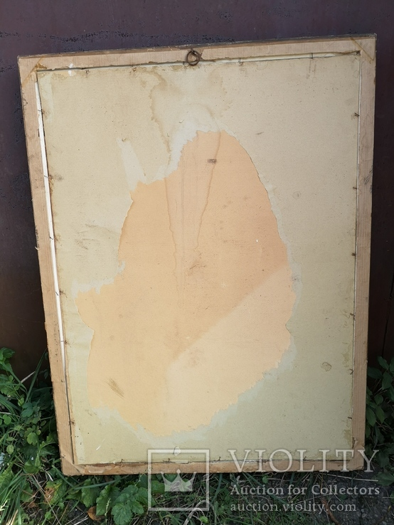Велика ікона в рідній рамі 105х65см, фото №4