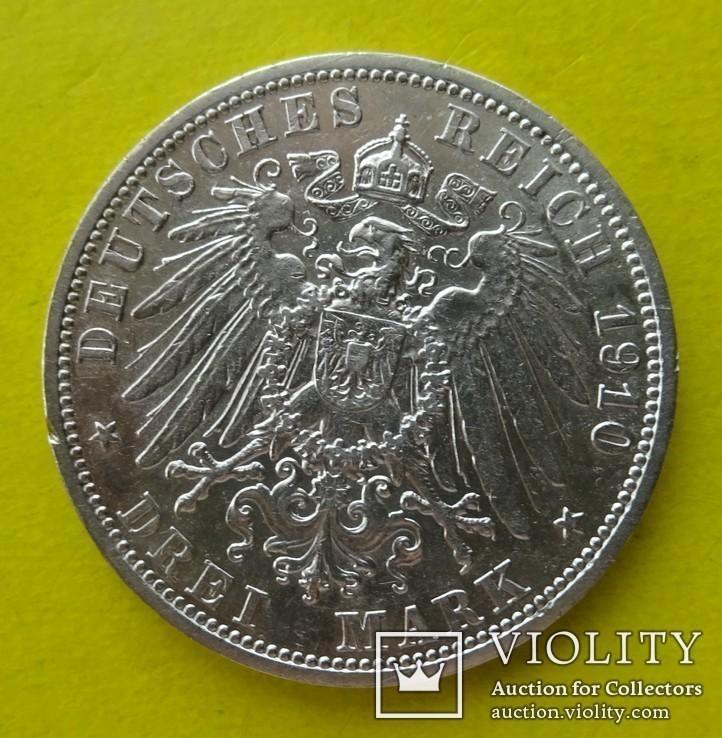 3 марки. Гессен. 1910 год., фото №4