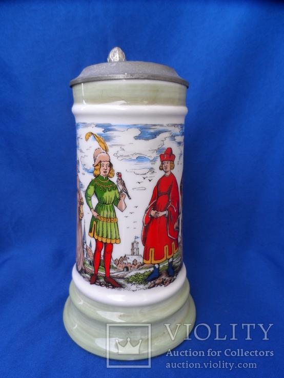 Коллекционная пивная кружка Сюжетная BMF Германия 0,8 L, фото №4