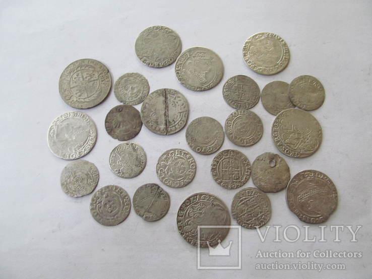 Монети польського середньовіччя-24 шт., фото №2
