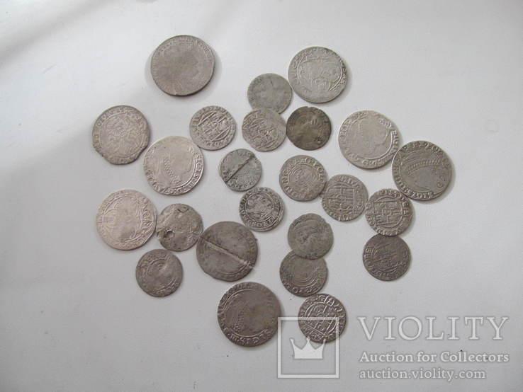 Монети польського середньовіччя-24 шт., фото №3