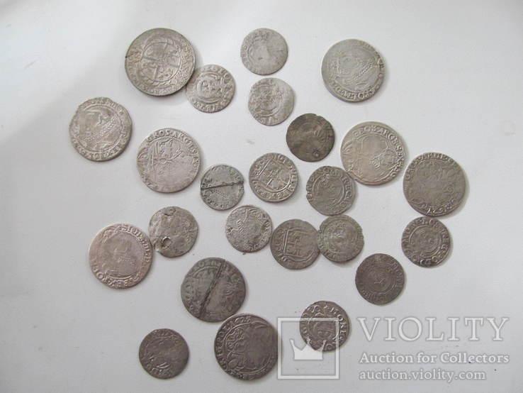 Монети польського середньовіччя-24 шт., фото №4