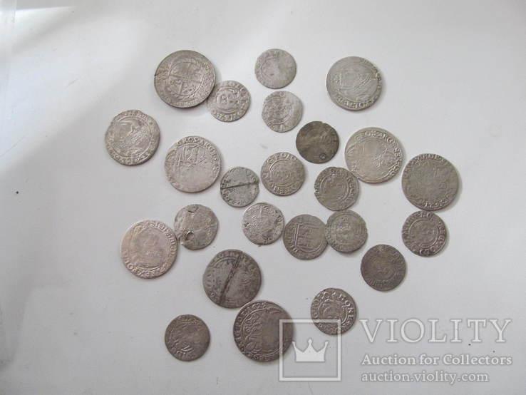 Монети польського середньовіччя-24 шт., фото №5