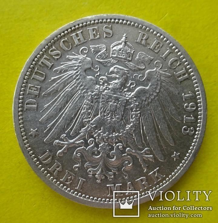 3 марки. Любек. 1913 год., фото №4