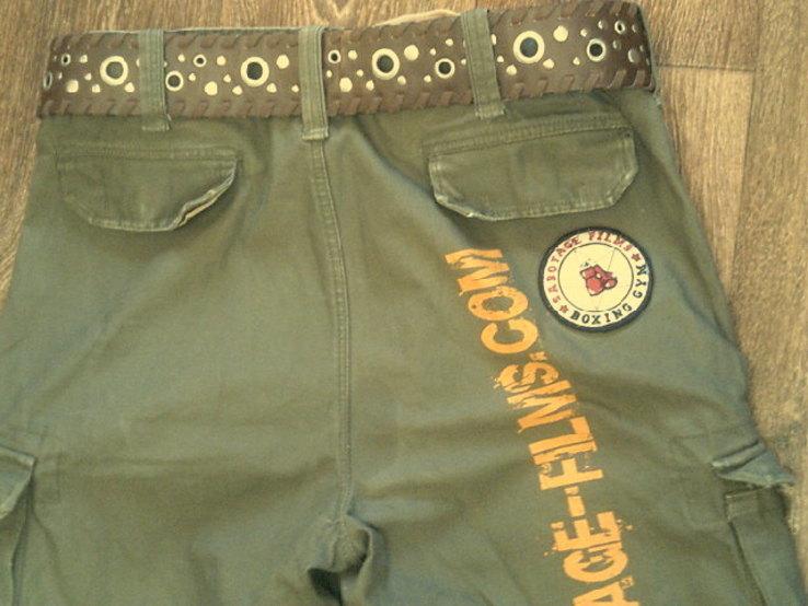 Sabotage semper unique - плотные шорты с ремнем, фото №6