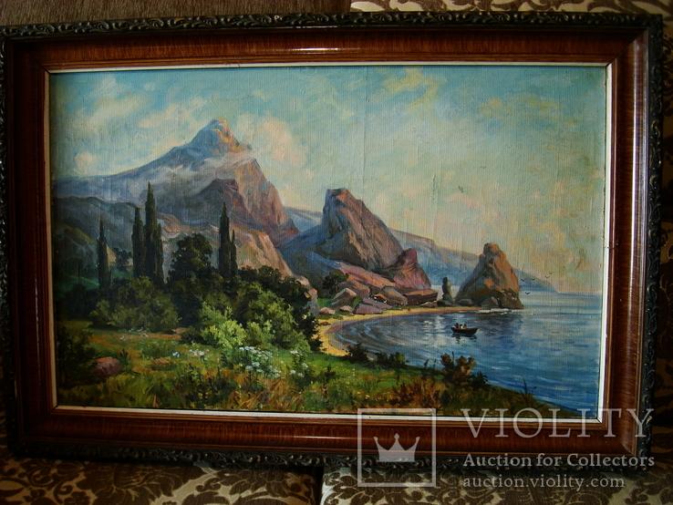 Крымский пейзаж х.м. 86х58см, фото №2