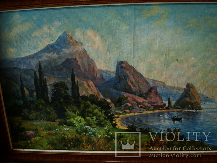 Крымский пейзаж х.м. 86х58см, фото №4