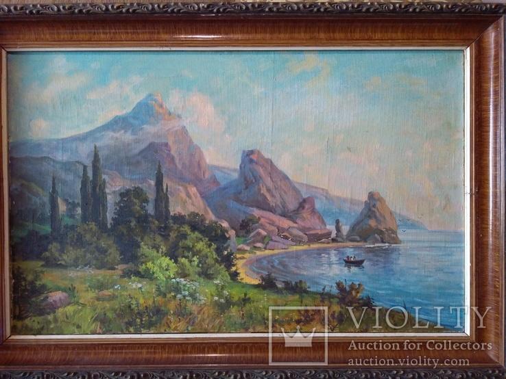 Крымский пейзаж х.м. 86х58см, фото №11