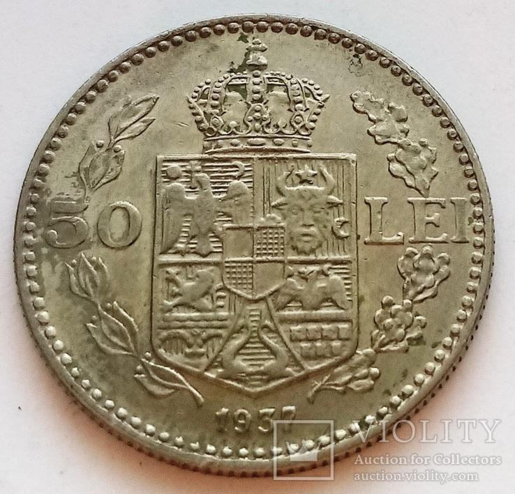 Румунія 50 лей 1937, фото №2