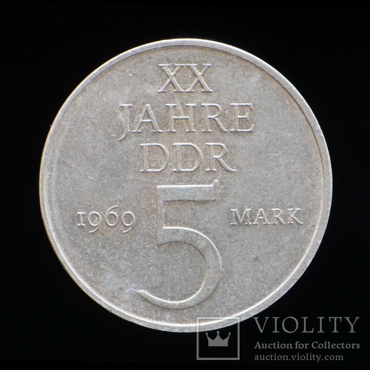 5 Марок 1969 20 Лет Государству, Германия ГДР, фото №2