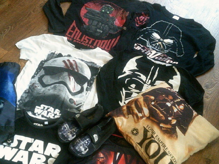 Star Wars (6 шт.) - свиншоты  (9-10 лет) + шлепки, подушка., фото №2