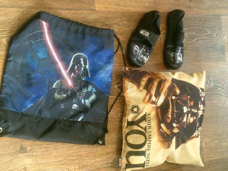 Star Wars (6 шт.) - свиншоты  (9-10 лет) + шлепки, подушка., фото №9