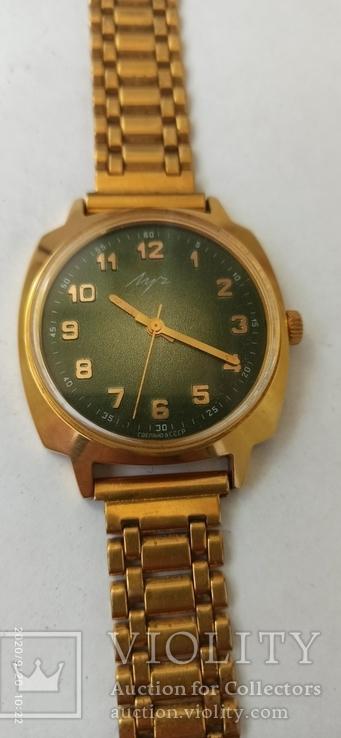 Часы Луч механика Аu 10 состояние не ношеных времен СССР.