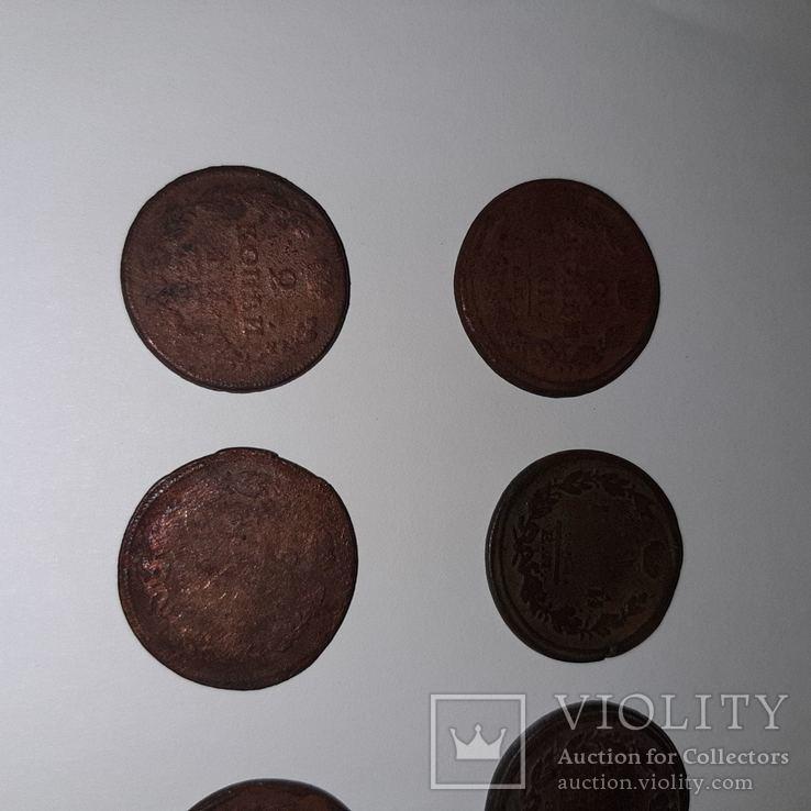 Монеты РИ 1 и 2 копейки (19 шт. Есть повторы) Одним лотом. См. Описание, фото №3