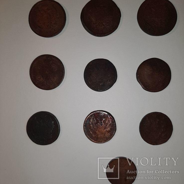Монеты РИ 1 и 2 копейки (19 шт. Есть повторы) Одним лотом. См. Описание, фото №6