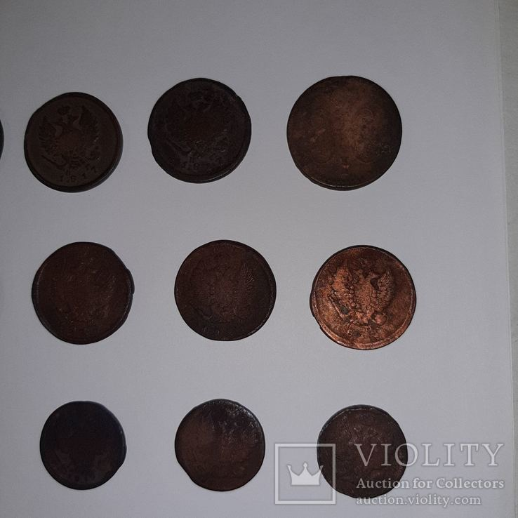 Монеты РИ 1 и 2 копейки (19 шт. Есть повторы) Одним лотом. См. Описание, фото №7