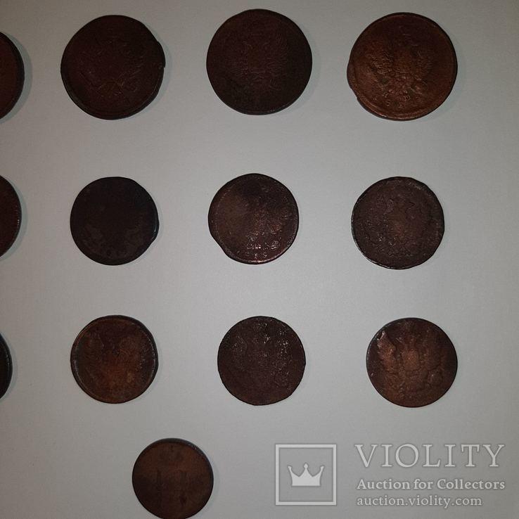 Монеты РИ 1 и 2 копейки (19 шт. Есть повторы) Одним лотом. См. Описание, фото №10