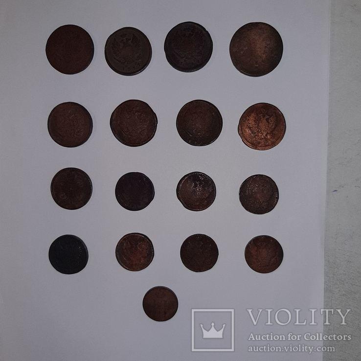 Монеты РИ 1 и 2 копейки (19 шт. Есть повторы) Одним лотом. См. Описание, фото №11