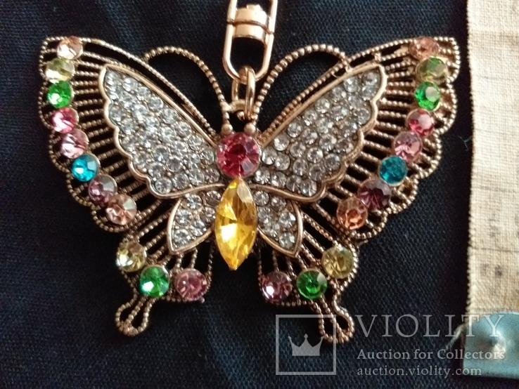 Брелок бабочка с камнями, фото №2